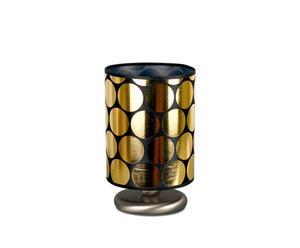 Lampe à poser Acier et tissu, Doré noir  - H23