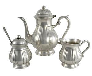Service à thé, Etain - Argenté