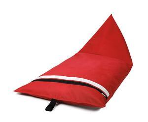 Pouf KANB Polyester et polystytrène, Rouge - 140*70