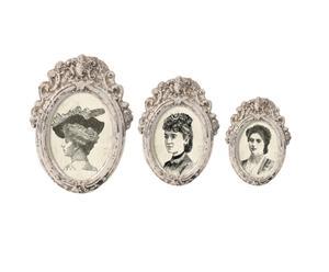 Set di 3 cornici portafoto in ceramica - Madame