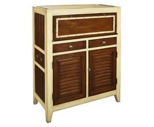 Parete attrezzata in ciliegio: soggiorno in legno - Dalani e ora ...
