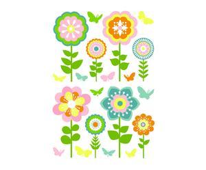 Set di 2 confezioni di wallstickers in vinile Flowers