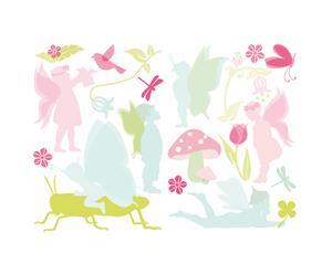 Set di 2 confezioni di wallstickers in vinile Lovely Fairies
