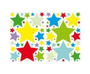 Set di 2 confezioni di wallstickers in vinile Stars