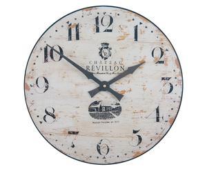 Orologio anticato da parete effetto legno Pale - D 36 cm