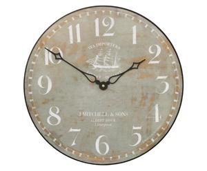 Orologio anticato da parete effetto legno Ship - D 36 cm