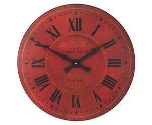 Orologio anticato da parete Warm Red - D 36 cm