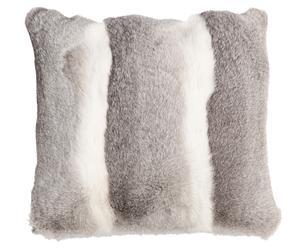 Cuscino in lapin e retro in chashmere Kanin - 40x40 cm
