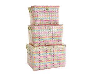 set di 3 scatole portagiochi Hannah