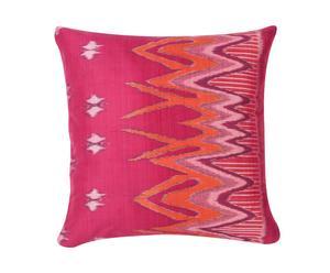cuscino in cotone Ikat prugna - 40x40 cm