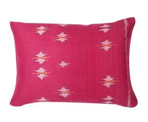 cuscino in cotone Ikat prugna - 50x35 cm