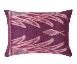 cuscino in cotone Ikat viola - 50x35 cm