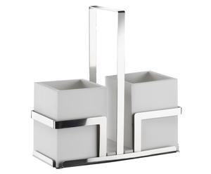 set portaposate con stand diamond - 3 pezzi