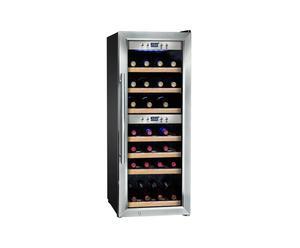 Frigorifero per vino in acciaio per 28 bottiglie - 40X58X103 cm
