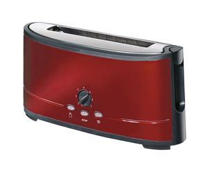 Tostapane in acciaio laccato per 2 fette Clio rosso - L39XP14XA19 cm