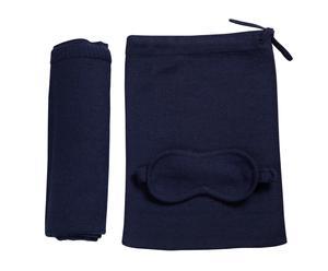 Kit da viaggio in lana di alpaca blu