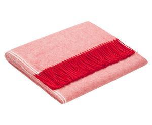 Plaid in lana di baby alpaca Luna rosso - 130x180 cm