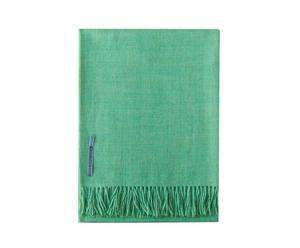 Plaid in lana di baby alpaca Alba verde - 180x135 cm