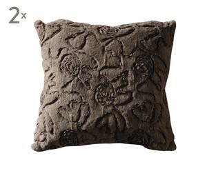 set di 2 cuscini quadrati mellow marrone - 43x43 cm