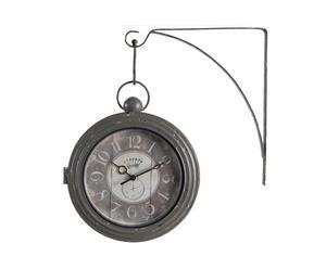 orologio da parete in metallo gare - 33x38x8 cm