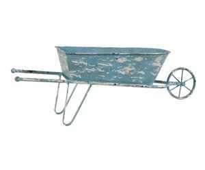 carriola decorativa in metallo barrow - 61x22x16 cm