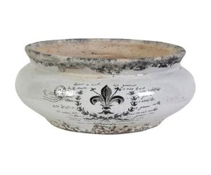 centrotavola in ceramica dedalo - d 27/H 11 cm