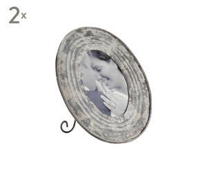 Set di 2 cornici portafoto in metallo anticato Cardo - 25X30 cm