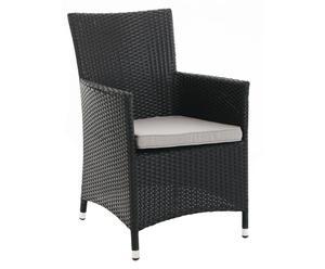 Sedia in alluminio e plastica imbottita Monte Carlo - 59x87x62 cm