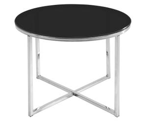 tavolino rotondo Latisha nero - D 55/H 45 cm