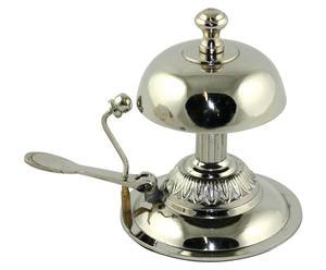 campanello in nichel argentato - 13x9x14 cm