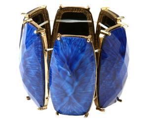 Bracciale in metallo anallergico e resina Heide - blu