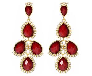 Coppia di orecchini in metallo anallergico e resina Sagaponack - rosso