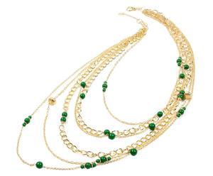 Collana in metallo anallergico e resina Mercer - verde