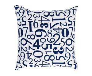 Cuscino quadrato in poliestere Number blu - 50x50 cm