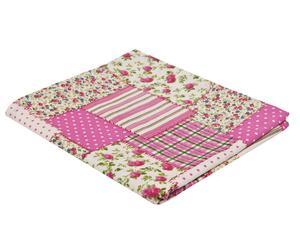Tovaglia rettangolare in cotone Patchwork rosa - 150x250 cm