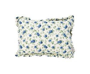 Cuscino rettangolare in cotone Elegance blu - 30x40 cm