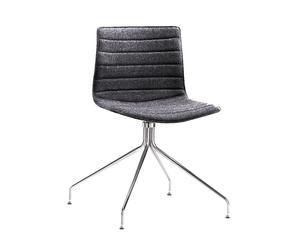 Sedia in acciaio e poliestere CATIFA 46 nero&grigio - 69x81x69 cm