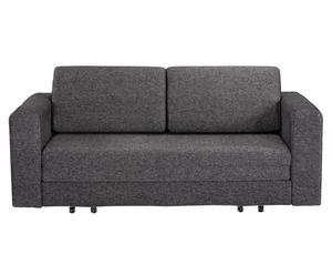 divano letto a 2 posti Fabric grigio scuro - 65x190x100 cm
