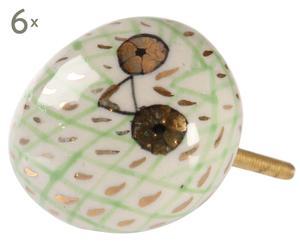 Set di 6 pomelli in ceramica Funky Owl