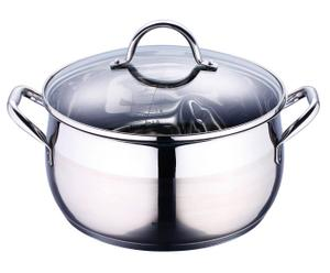 Casseruola in acciaio Gourmet Line + coperchio - 8 lt