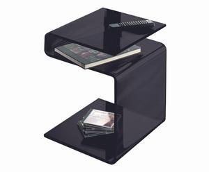 Tavolino/portariviste a 3 ripiani Genius nero - 42X48X40 cm