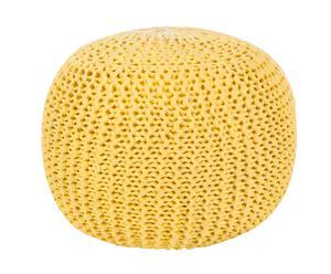 Pouf ottawa giallo - d 50/H 40 cm