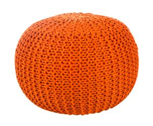 Pouf ottawa arancione - d 50/H 40 cm