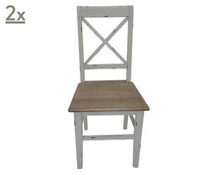 Set di 2 sedie in legno Sweet - 43x49x94 cm