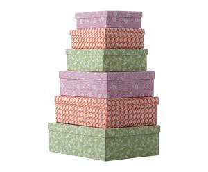 Set di 6 scatole in carta e cotone DEEPIKA