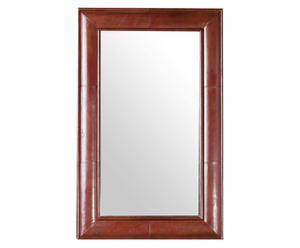 Specchio con cornice in pelle Berkeley - 76x122 cm