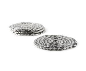 set di 4 sottobicchieri in alluminio Chathis - d 11 cm
