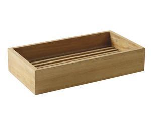 Box portaoggetti bagno in teak VALENTINA naturale - 6x30x16 cm