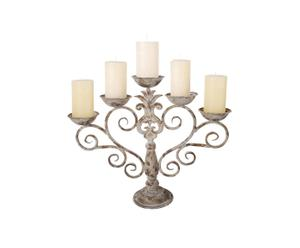 Candelabro in metallo a 5 bracci OLD MANSION - 44X53X15 cm