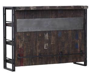 mobile bar in Metallo e mango stockton - 140x105x52 cm